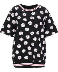 Love Moschino Sudadera con estampado de béisbol - Negro
