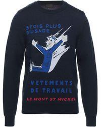 Le Mont St Michel Pullover - Blau