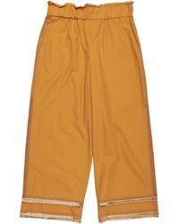 Les Copains Pantalones - Naranja