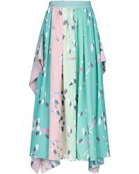 Huishan Zhang Midi Skirt - Blue