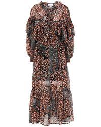 TOPSHOP 3/4 Length Dress - Brown