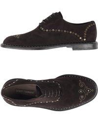 Dolce & Gabbana Lace-up Shoe - Brown