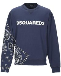 DSquared² Bandanna logo printed sweatshirt - Blu
