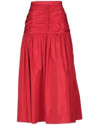 Stella McCartney Falda larga - Rojo