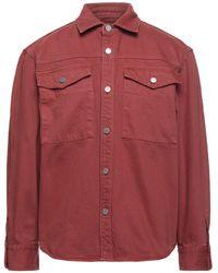 Edwin Denim Shirt - Red