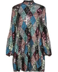 W Les Femmes By Babylon Short Dress - Metallic