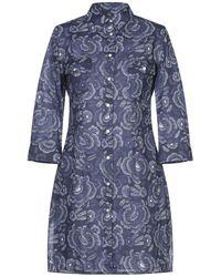 Camicettasnob Short Dress - Blue