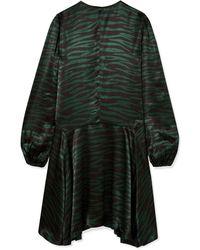 Ganni Robe aux genoux - Vert