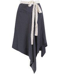 Alexis Knee Length Skirt - Blue