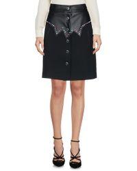 Frankie Morello Knee Length Skirt - Black