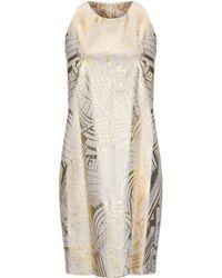 Genny Short Dress - Metallic