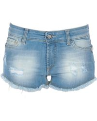 Frankie Morello Denim Shorts - Blue