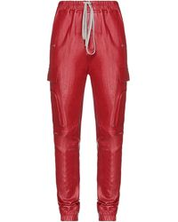 Rick Owens Casual Trousers - Red