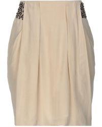 Cruciani Midi Skirt - Natural