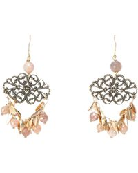 First People First Boucles d'oreilles - Rose