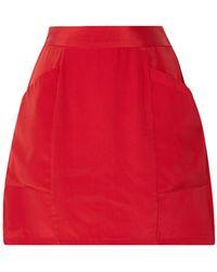 Fleur du Mal Silk-crepe Mini Skirt - Red