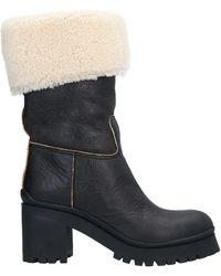 Miu Miu Ankle Boots - Black