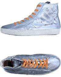 Golden Goose Deluxe Brand Sneakers abotinadas - Metálico