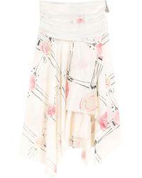 Loewe Knee Length Skirt - White
