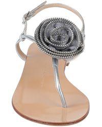 Giuseppe Zanotti Toe Strap Sandal - Metallic