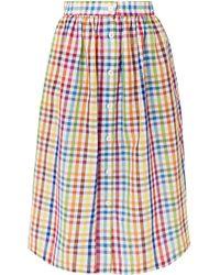 MDS Stripes Midi Skirt - White