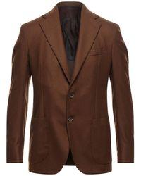 De Petrillo Suit Jacket - Brown
