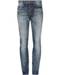 Saint Laurent Denim Trousers - Blue