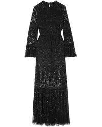 Needle & Thread Long Dress - Black