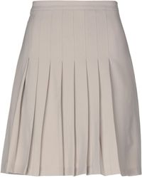 Peuterey Knee Length Skirt - Natural