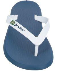 Rider Toe Strap Sandals - White