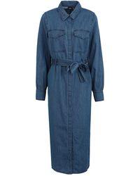 Vero Moda 3/4 Length Dress - Blue