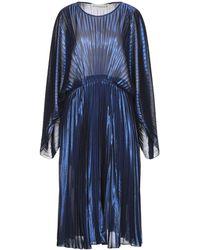 Shirtaporter Knielanges Kleid - Blau