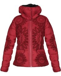Desigual Synthetic Down Jacket - Red