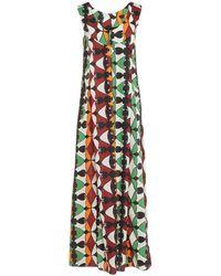 Hache Long Dress - Green