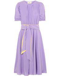 AROSSGIRL x SOLER Midi Dress - Purple