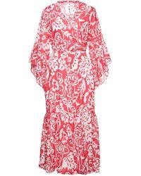 Caractere Vestido midi - Rojo