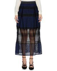 Self-Portrait - 3/4 Length Skirt - Lyst