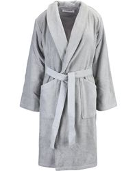 KENZO Towelling Dressing Gown - Gray