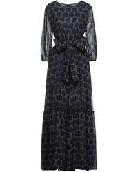 Samantha Sung Langes Kleid - Grau