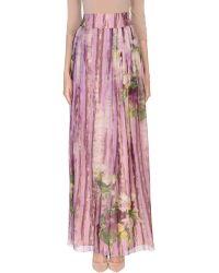 Alberta Ferretti - Long Skirt - Lyst