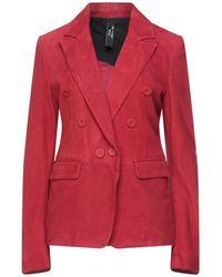 Vintage De Luxe Suit Jacket - Red