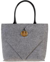 Vivienne Westwood Large Fabric Bag - Gray