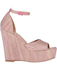 M Missoni Lurex Spacedye Wedge (blush) Wedge Shoes - Pink
