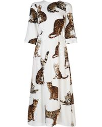 Dolce & Gabbana - Printed Cady Dress - Lyst