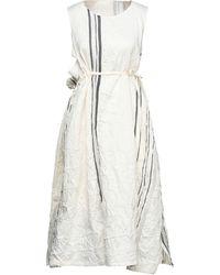 Y's Yohji Yamamoto Midi-Kleid - Weiß