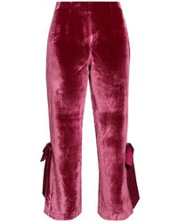 Cinq À Sept Pantalones - Rojo