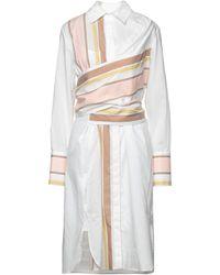 Victoria, Victoria Beckham Knee-length Dress - White