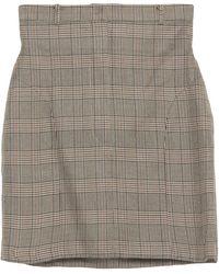 Pushbutton Mini Skirt - Natural