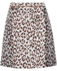 Christopher Kane Mini Leopard Skirt - Grey
