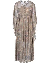 No Secrets 3/4 Length Dress - Brown